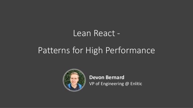 Lean React - Patterns for High Performance [ploneconf2017]