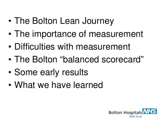 slam nhs trust balanced scorecard Trust board paper – cover sheet meeting date:  through a balanced scorecard and 'heat  essex rivers healthcare nhs trust needs to know that it is operating .
