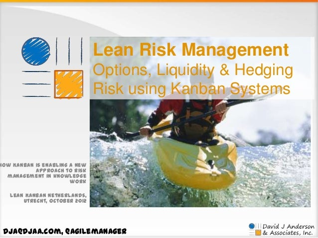Lean Risk Management Options, Liquidity & Hedging Risk using Kanban Systems  How Kanban is enabling a new approach to risk...