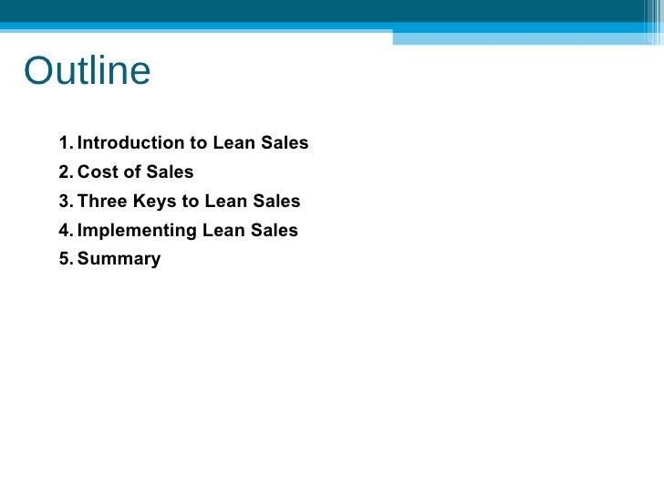 Lean Sales Sample Slide 2