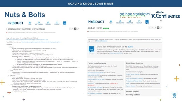 SCALING KNOWLEDGE MGMT  Nuts & Bolts