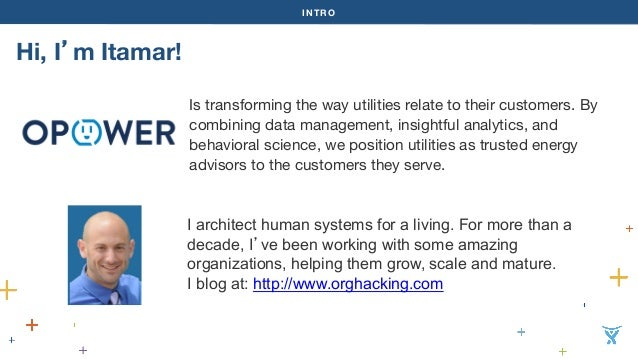 INTRO  Hi, I'm Itamar!  Is transforming the way utilities relate to their customers. By  combining data management, insigh...