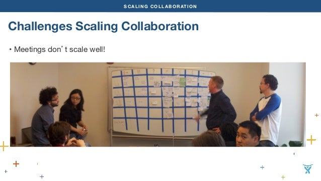 SCALING COLLABORATION  Challenges Scaling Collaboration  • Meetings don't scale well!