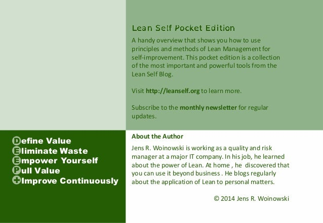Lean Self Pocket Edition (Preview)