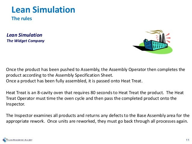 11 Once the product has been pushed to Assembly, the Assembly Operator then completes the product according to the Assembl...