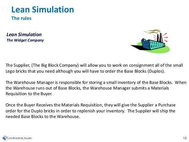 12 The Supplier, (The Big Block Company) will allow you to work on consignment all of the small Lego bricks that you need ...