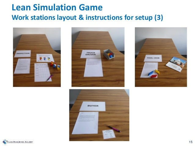 15 Lean Simulation Game Work stations layout & instructions for setup (3)