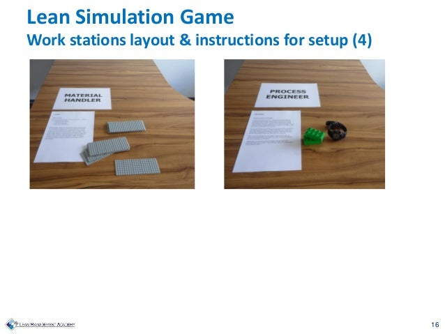16 Lean Simulation Game Work stations layout & instructions for setup (4)