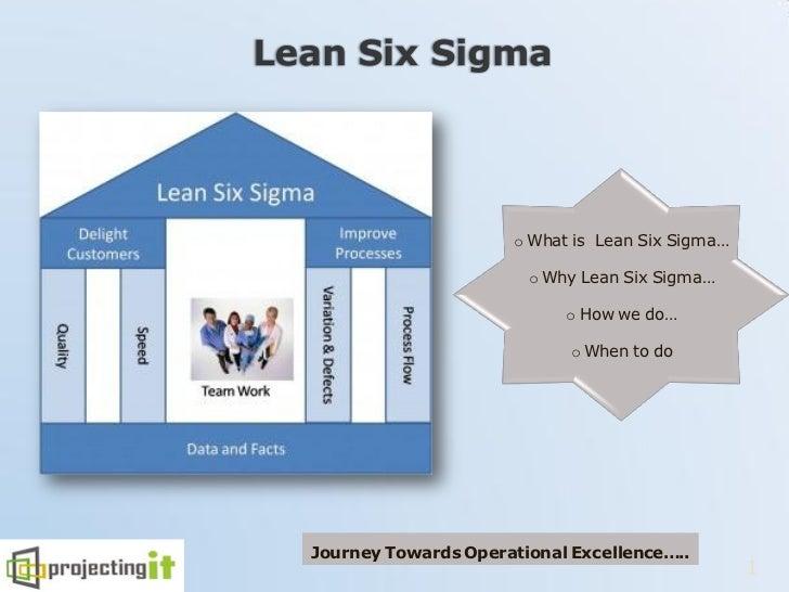 o What is Lean Six Sigma…                       o Why Lean Six Sigma…                           o How we do…              ...