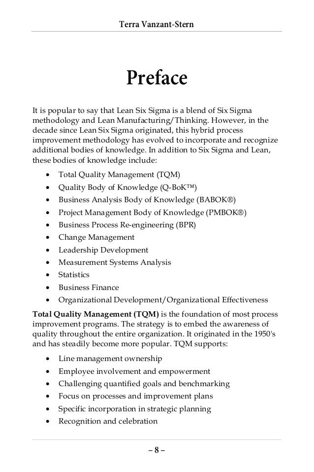 Dennis Frankos Resume And Cv. Lean Six Sigma Practical Body Of Knowledge