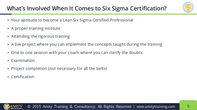 how to get lean six sigma certification