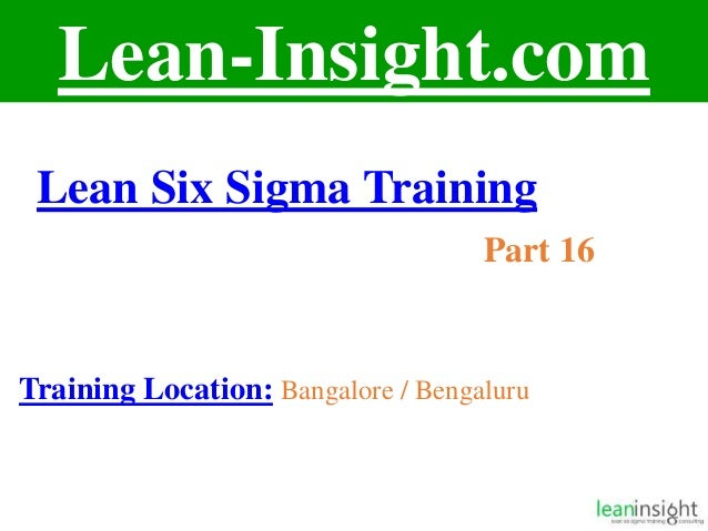 Lean Six Sigma Course Training Part 16