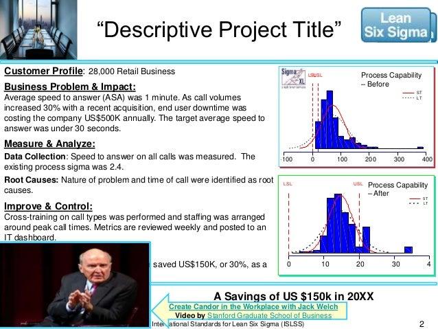 lean six sigma project case studies