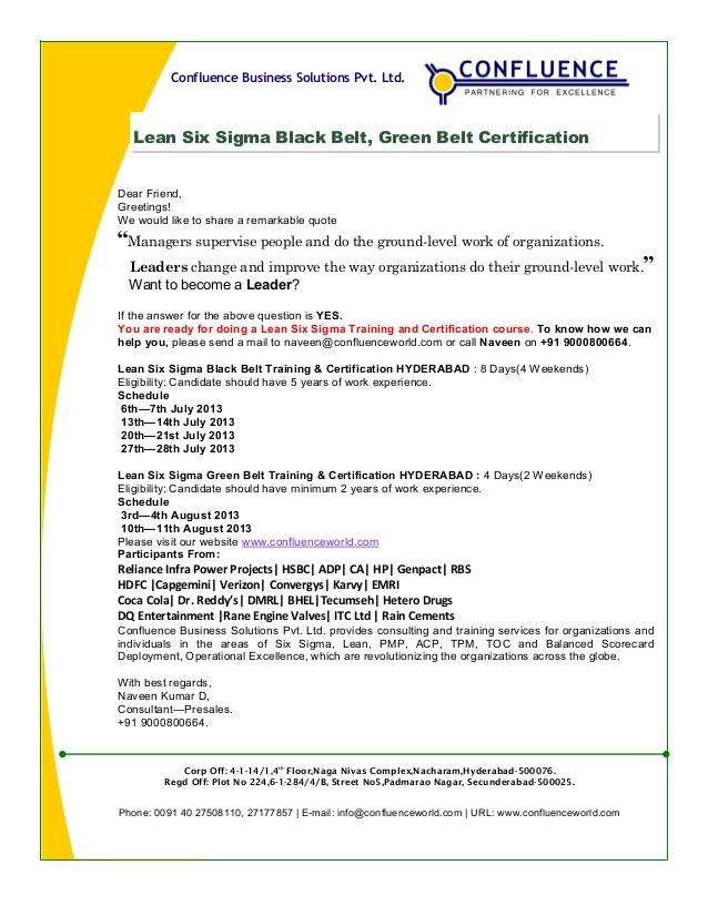 Lean Six Sigma Flyer