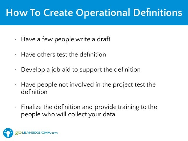 how to write a operational definition