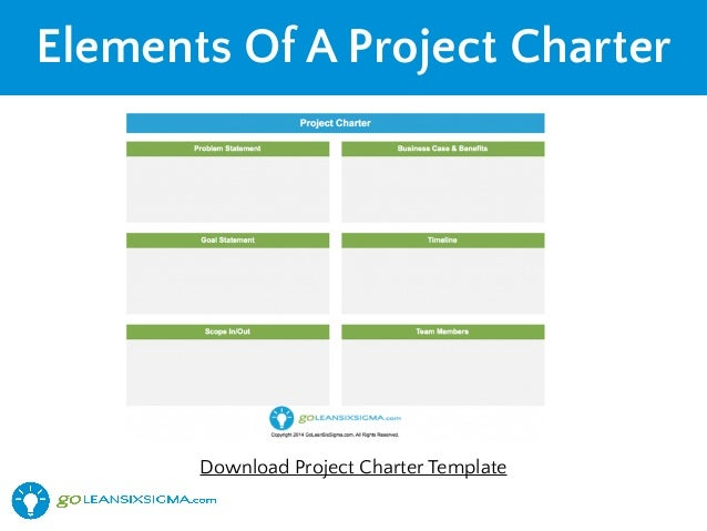 six sigma project charter