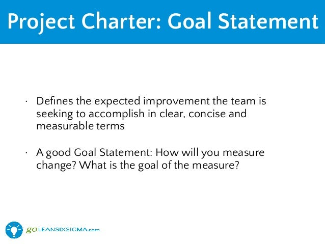 project charter goals A project charter identifies the project and its project manager, and is the means used to collect the authorizing signatures of key project participants and supporters.