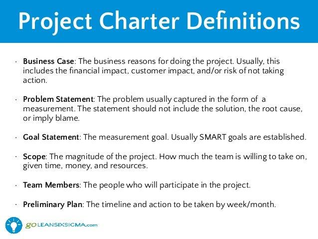 Lean Six Sigma Project Charter - GoLeanSixSigma.com