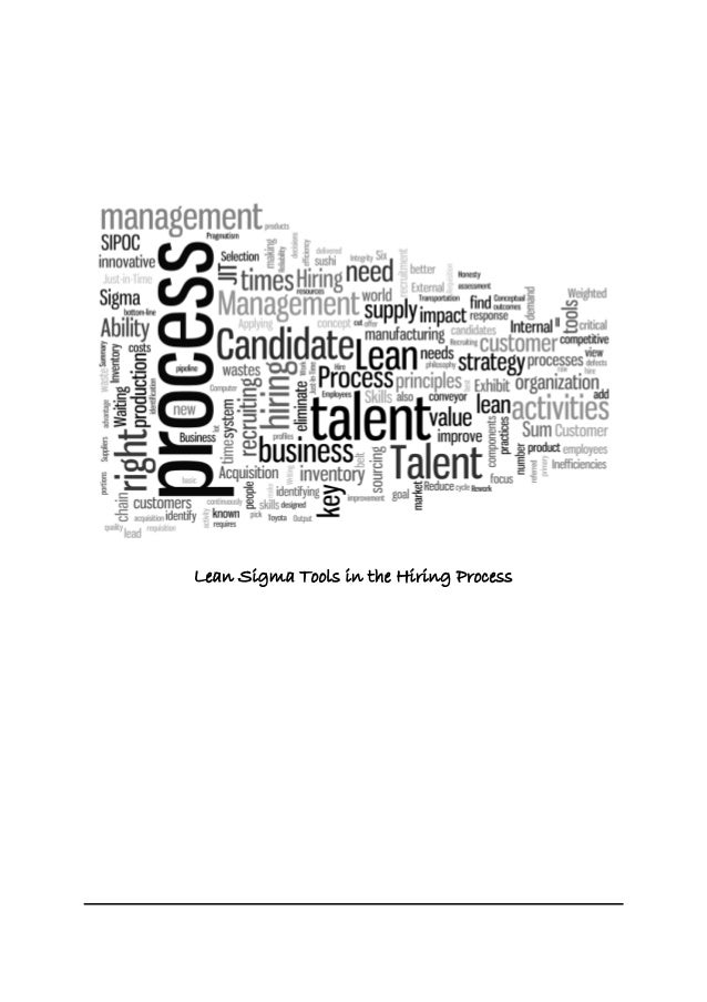 Lean Sigma Tools in the Hiring Process