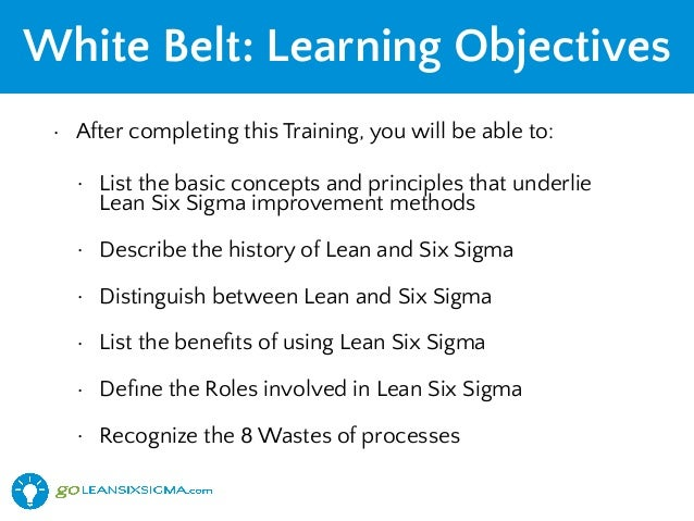 lean 6 sigma certifications