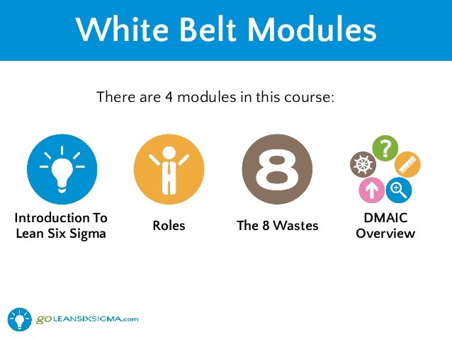 Free Lean Six Sigma White Belt Training - GoLeanSixSigma com