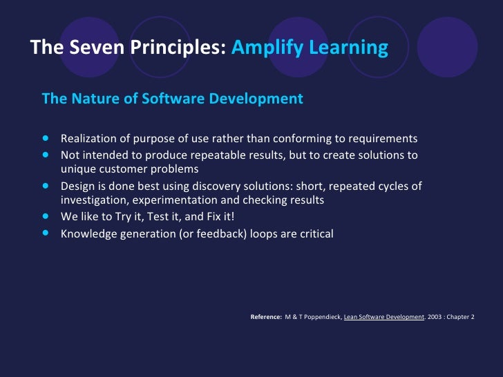 principles of software design essay Software design is the most important phase of the software development cycle thinking about how to structure code before you start writing it is critical changes and updates will inevitably arise.