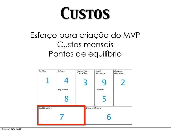 Custos                          Esforço para criação do MVP                                 Custos mensais                ...