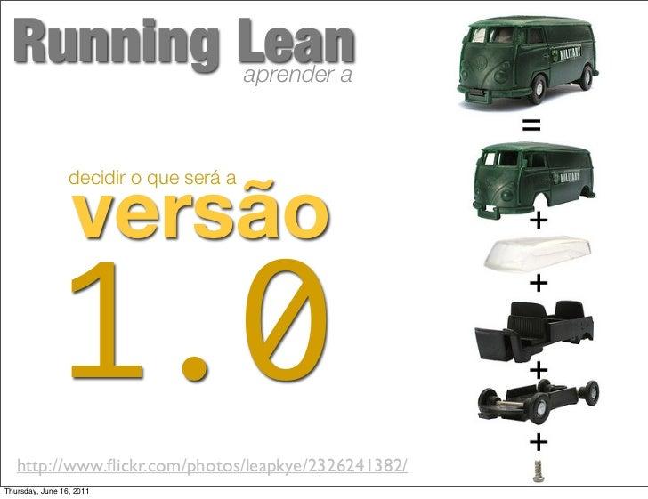 Running Lean                           aprender a                  versão                 decidir o que será a            ...