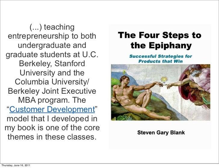 (...) teaching  entrepreneurship to both     undergraduate and  graduate students at U.C.     Berkeley, Stanford     Unive...