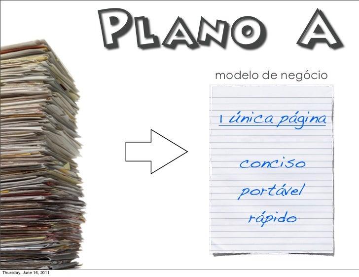 Plano A                             modelo de negócio                             1 única página                          ...
