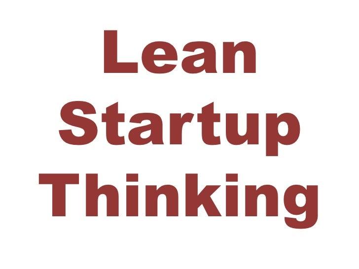 LeanStartupThinking