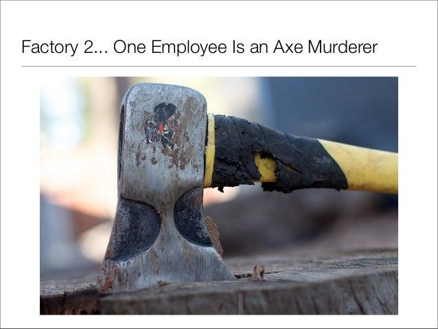 Factory 2... One Employee Is an Axe Murderer