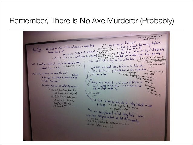 Remember, There Is No Axe Murderer (Probably)