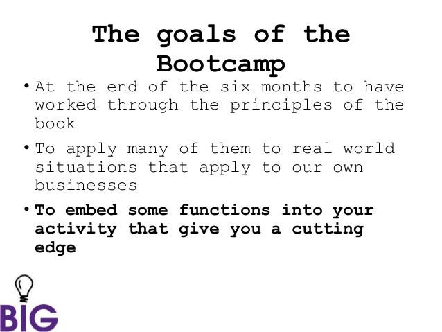 how to start up bootcamp