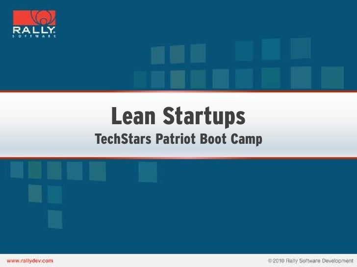 Lean StartupsTechStars Patriot Boot Camp