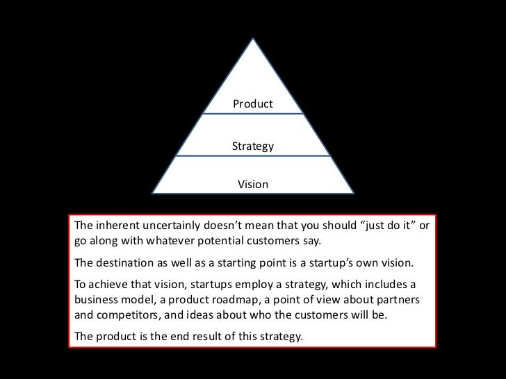 Product                                Strategy                                 VisionThe inherent uncertainly doesn't mea...