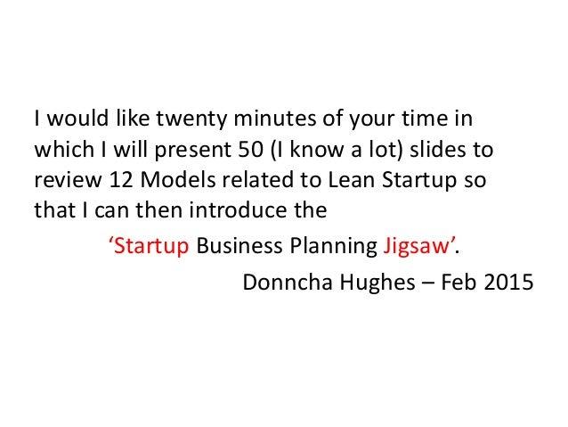 12 Lean Startup Models Slide 2