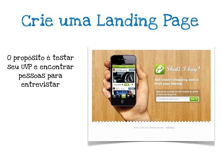 Landing Pagedo livro running lean