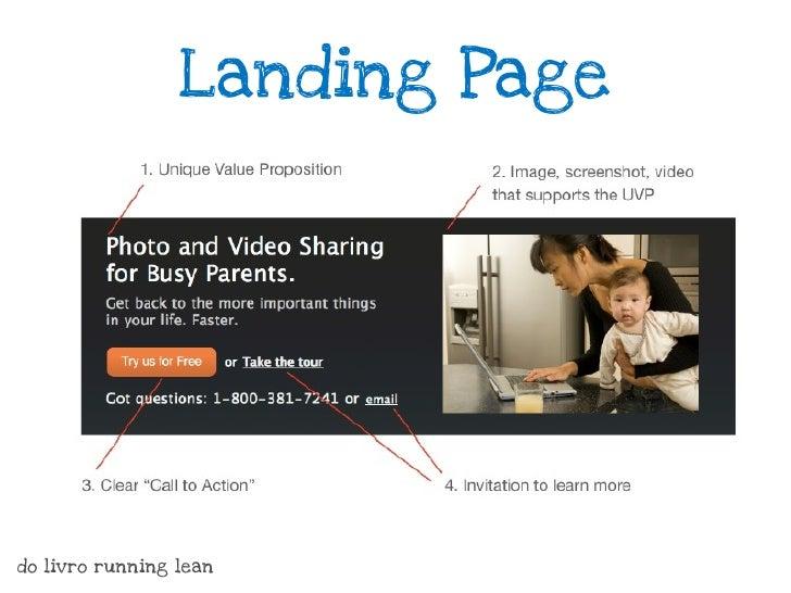 Crie um website                        Pronto para Venderdo livro running lean