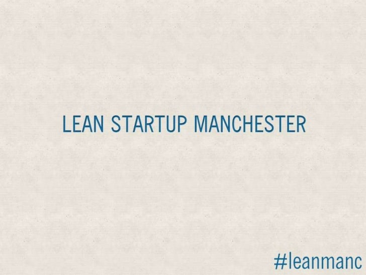 Lean Start up Tools - Lean startup Manchester