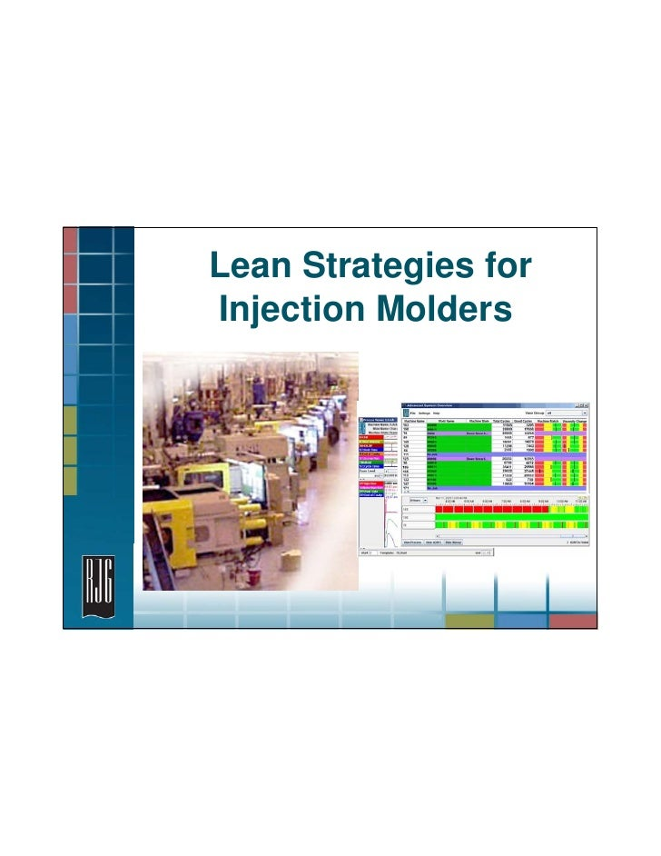 Lean Strategies for Injection Molders                           1 - Lean