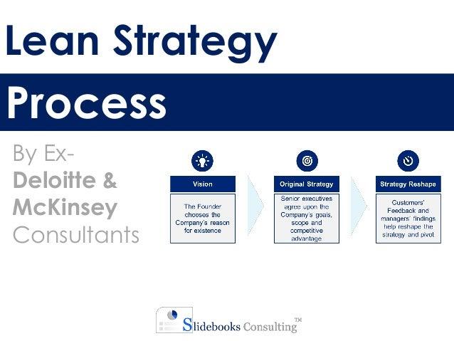 Lean Strategy Process By Ex- Deloitte & McKinsey Consultants