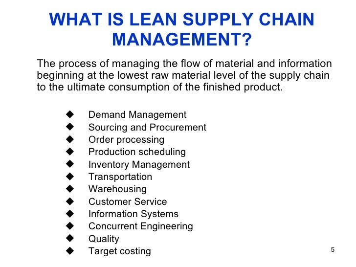 lean supply chain Should you use a lean or agile supply chain supply and demand are no longer the only driving factor of the market consumer behaviors and economic movements are changing daily, so production and manufacturing are forced to find ways to keep up.