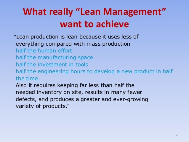 lean thinking management topic from mybskool online