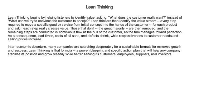Lean thinking audiobook free business economics malvernweather Images