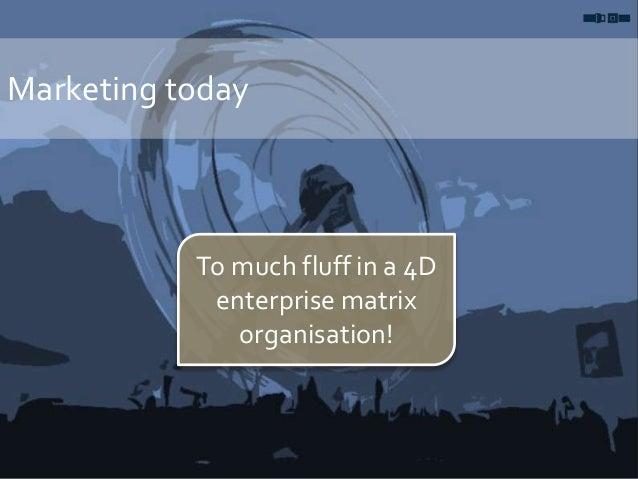 Marketing today To much fluff in a 4D enterprise matrix organisation!