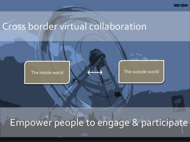 Cross border virtual collaboration Empower people to engage & participate The inside world The outside world
