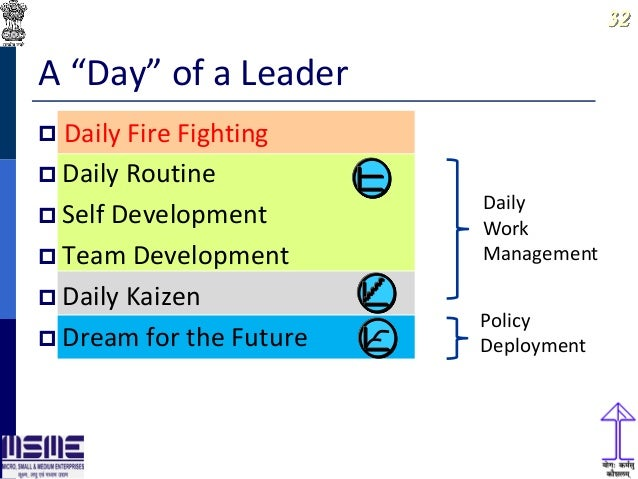lean thinking and daily work management