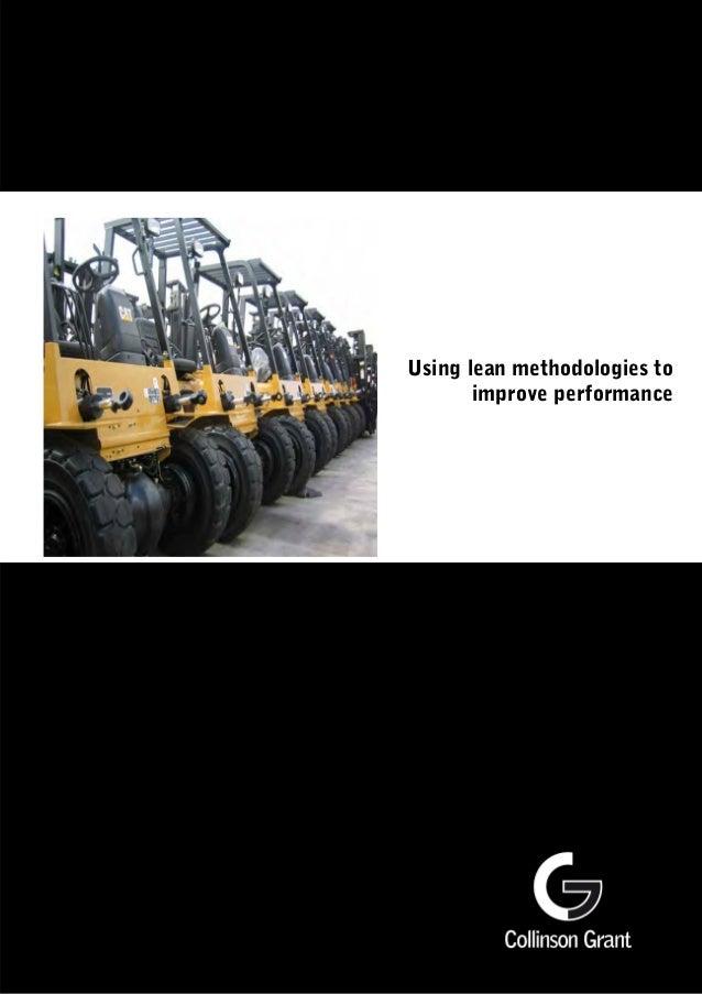Using lean methodologies to improve performance