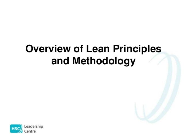 An Introduction to Lean Principles & Methodology for Doctors
